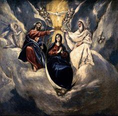 Le couronnement de la vierge, par El Greco