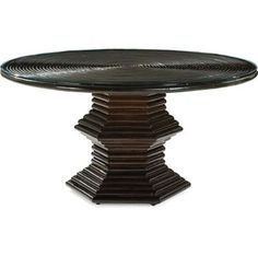 pool house center table?? Celerie Kemble $3400- on Dering Hall...Rattan-dining-table-dining-room-tables-traditional-wood