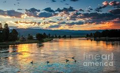Sunrise On The North Payette River: See more images at http://robert-bales.artistwebsites.com/