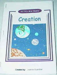 The Story of Creation -The mini-books are quite simple, with images that should appeal to young children