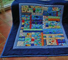 Neu! Decke mit lustigen Meerestieren! Bunt, Quilts, Blanket, Etsy, Marine Life, Handarbeit, Gifts, Quilt Sets, Blankets