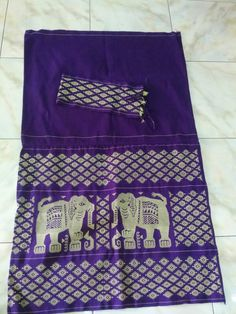 Elephant design- Hand made woven fabric