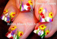 DIY Easy Spring Garden Flower Nail Art #daffodils #lavender #poppies #garden #nails #nailart #howto #easy #DIY #DIYnails #springnails #wildflower #flower #flowers #fun @dazzledryusa #mattie