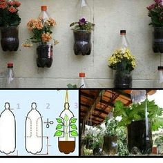 Making vase from bottle