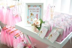 Vintage Ballerina Party from Little Red Chick  using Hello Love Designs' Vintage Ballerina printable collection. 2013