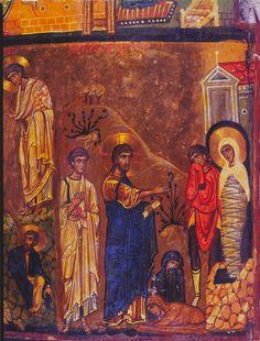 Annunciation, Transfiguration, and Raising of Lazarus Byzantine Icons, Byzantine Art, Raising Of Lazarus, Religious Icons, Prayer Cards, Art Icon, Orthodox Icons, Christian Art, Illuminated Manuscript