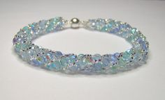 Pastel spiral bracelet russian spiral blue by BuzzybeeBeading, £20.00