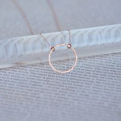Dainty Rose Gold Circle Necklace