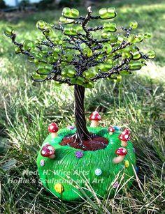 Mini Mushroom tree #2 with natural colors by HollieBollie.deviantart.com on @DeviantArt