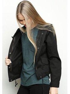 b556168071a51 Brandy Melville - Black Hooded Zip Up Hailey Windbreaker Jacket - hiking  outfit xx Windbreaker Outfit