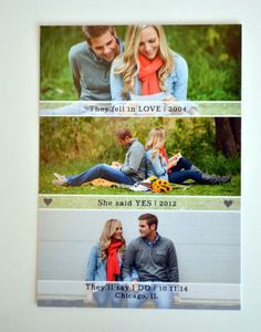 Mike & Casey's Save the Date Postcards - From Hello to I Do