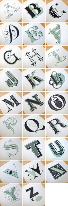 Image of Drop Cap Letterpress Prints - Jessica Hische Jessica Hische, Calligraphy Letters, Typography Letters, Caligraphy, Typography Poster, Typography Quotes, Types Of Lettering, Lettering Design, Different Lettering Styles