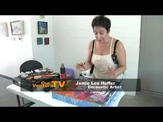 How to Transfer Images with Encaustic Painting - YouTube