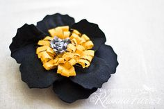 Felt flower brooch Rhonna DESIGNS: t minus 12 hours....