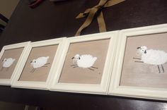 I made for Mister's neutral sheep theme nursery
