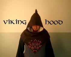 How to: Viking hood construction - I used this to make mine. I made mine very slightly smaller and it worked well. I didn't line mine though because it wasn't necessary. I finished the inside hood opening and bottom hems with tape for trim and to cover seams. ~LS
