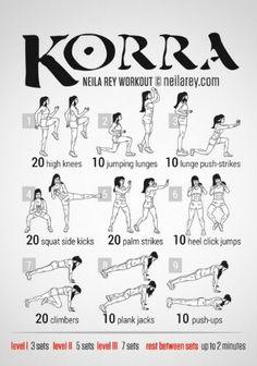 Legend of Korra Workout