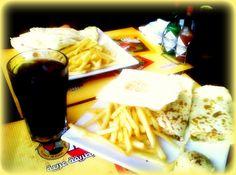 fries & chicken wraps
