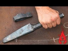 Blacksmithing - Forging an axe drift - YouTube