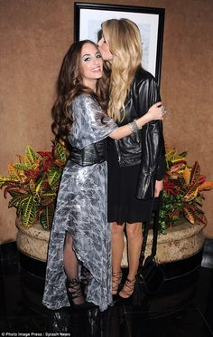 Show of support:Christie Brinkley planted a kiss on her daughterAlexa Ray Joel's head as they arrived atThe Carlyle Hotel in New York City on Wednesday night