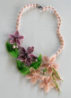 Beadwork by Galina Baer. Color Dreams Necklace
