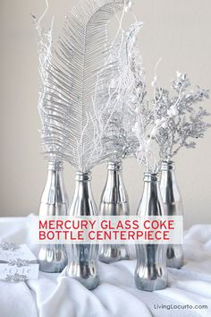 Stun your guests with these beautiful mercury painted Coke bottles. They make an eye-catching center piece perfect for your New Years Eve party! Our partner Amy shows us how.
