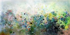 Untitled (sold)., a Oil on Canvas by Clara Fialho from United States. It portrays: Abstract, relevant to: painting, diptych, fialho, abstract, green 2009