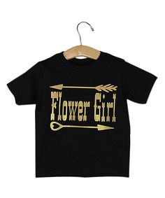 Black & Yellow Western 'Flower Girl' Tee - Toddler & Girls