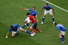 Spanish football player David Silva. In the match againts Italy.Spain is the current Europe & World Champion.Love-Spain