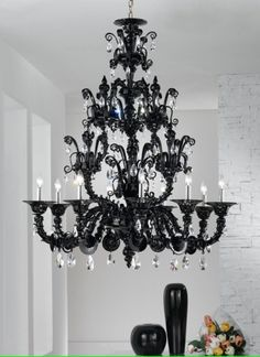 venice italy murano glass chandilers | ... glass black glass chandelier chandelier murano glass italy italian