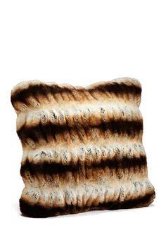 "Couture Faux Fur 24"" Pillow - Tan Chinchilla by Fabulous Furs on @HauteLook"