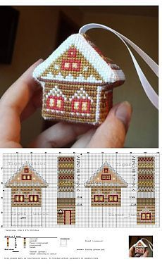 Thrilling Designing Your Own Cross Stitch Embroidery Patterns Ideas. Exhilarating Designing Your Own Cross Stitch Embroidery Patterns Ideas. Plastic Canvas Ornaments, Plastic Canvas Christmas, Plastic Canvas Crafts, Plastic Canvas Patterns, Cross Stitch House, Cross Stitch Charts, Cross Stitch Designs, Biscornu Cross Stitch, Tiny Cross Stitch