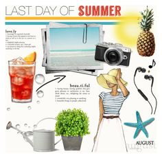 """last day of summer.."" by senaa ❤ liked on Polyvore featuring interior, interiors, interior design, maison, home decor, interior decorating, Garden Trading, Skullcandy, Creative Displays et Summer"