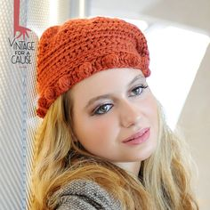 Tile beret 100 % delicious by Vinntagefac on Etsy