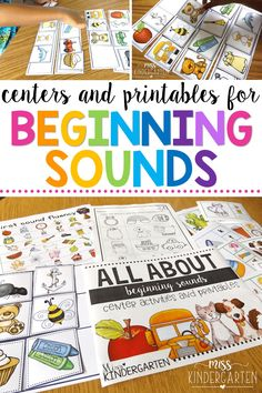 Kindergarten students can sort their beginning sounds through these printables! Students can sort the first sounds to practice their fluency or play games to practice their knowledge of beginning sounds! Make teaching fun with these activities. #learning #preschool #worksheets