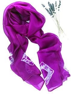 Cashmere Silk Scarf - Purple String Flower by VIDA VIDA PtZA0W