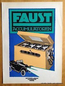 1920 German INDUSTRIAL Faust AUTO Car Advertising PLAKAT Poster ART Avant Garde