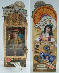 Artfully Musing: Video Tutorial - Madam Rue's Fortune Telling Machine by Laura Carson - Designed for Alpha Stamps.  can be seen on her blog at http://artfullymusing.blogspot.com/2012/08/video-tutorial-madam-rues-fortune.html#