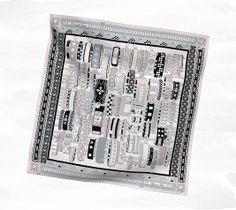 Colliers de Chiens silk twill scarf