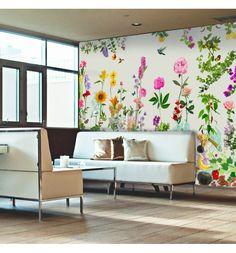 """Décor mural d'exception imprimé sur toile adhésive, découvrez """"Hemera"""" une création de Catherine Feff"""