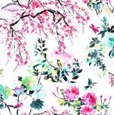 Designers Guild, Pink Wallpaper, Fabric Wallpaper, Interior Wallpaper, Tissu Chinoiserie, Shanghai, Chinese Garden, Amazing Flowers, Designer Wallpaper