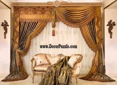 New catalogue of classic luxury curtains and luxury drapes 2018 with the best classic curtains designs and drapery designs 2018 for all rooms living room, kitchen, dining room, bedroom and bathroom curtain designs 2018 for luxury interior design Luxury Curtains, Home Curtains, Curtains Living, Modern Curtains, Living Room Windows, Lined Curtains, Bedroom Drapes, Blackout Curtains, Winter Weddings