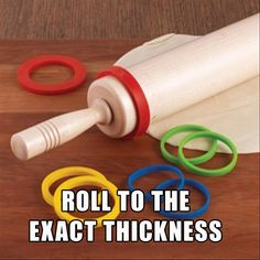 Add this to the rolling pin and it'll be evenly spread. Awesome. Other sweet ideas on the website, too!
