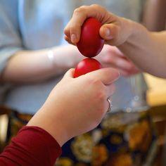 Why Greeks crack Red Eggs at Paska.