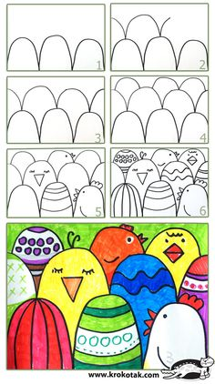 How to make an easy Easter postcard Going to use this for foreground, middle…