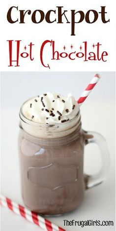 Crockpot Hot Chocolate - could put toppings in cute containers