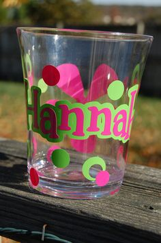 Vinyl Decorated Acrylic Cup l and it has my name on it!!!!