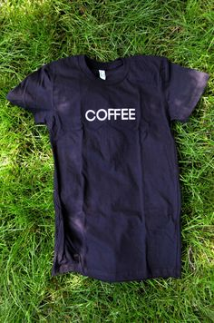 The Coffee T Shirt in Black by Sophster-Toaster Ink In Water, Black Water, Toaster, Summer 2015, American Apparel, Screen Printing, Organic Cotton, T Shirts For Women, Unisex