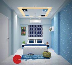 Bedroom False Ceiling Design, Bedroom Bed Design, Bedroom Colors, Home Decor Bedroom, Home Living Room, House Ceiling Design, Small House Design, Pooja Mandir, Living Room Entertainment Center