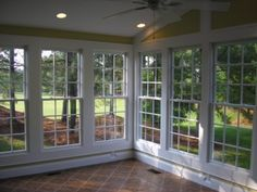 We're stepping out of the cooking area today, and right into the screened in porch. I'm sharing screened in porch ideas on exactly how to maximize a little budget plan. Porch To Sunroom, Sunroom Windows, Screened In Porch, Big Windows, Small Sunroom, Ceiling Windows, Front Porches, Porch Enclosures, Four Seasons Room